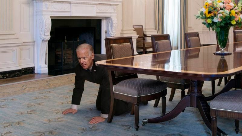 Illustration for article titled Biden Searching White House One Last Time For Missing Pet Snake