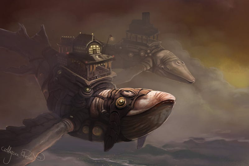Illustration for article titled Take A Ride on a Steampunk Whale