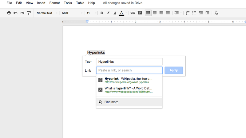 Illustration for article titled Google Docs Auto-Search Just Made Linking Easier Than Ever