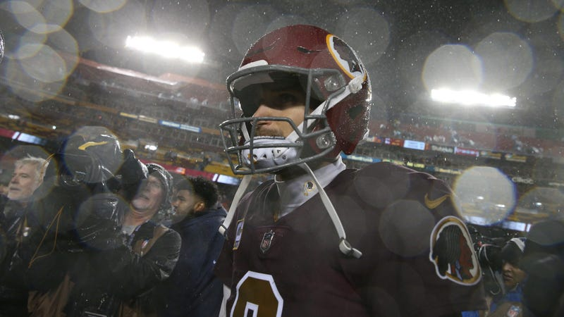 Illustration for article titled Kirk Cousins Anticipates His Inevitable Death With A Tube Of Rocks