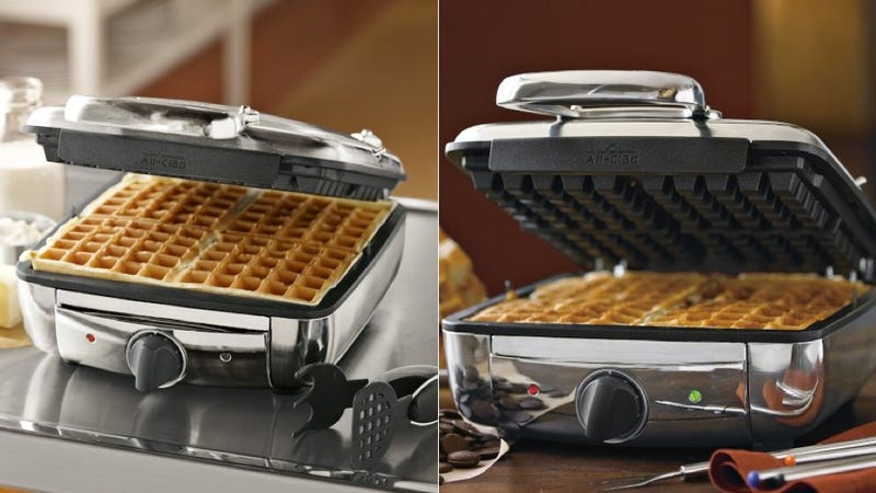 Illustration for article titled A Waffle Maker To Help You Through a Lifetime of Hangovers
