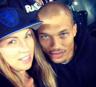 Jeremy Meeks and an unidentified womanFacebook