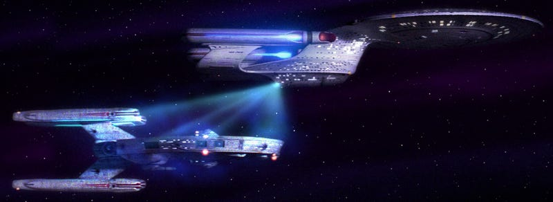 Illustration for article titled Star Trek Actually Got Tractor Beams Right