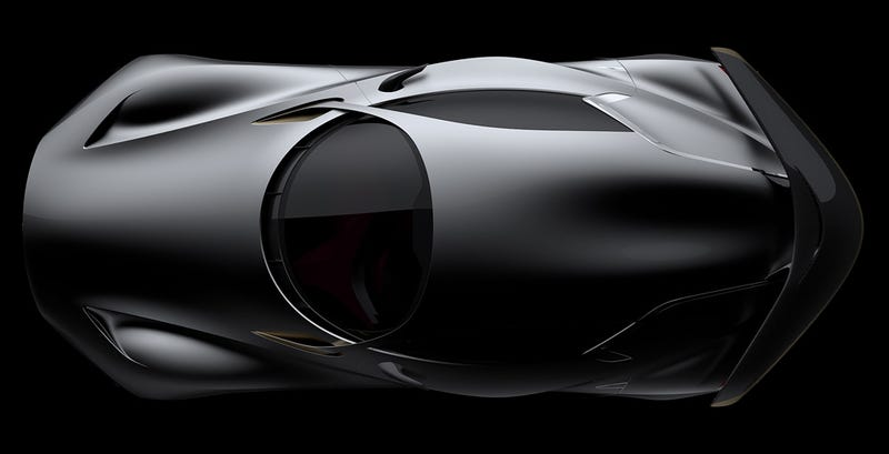 Illustration for article titled Infiniti's Vision GT concept is pure art