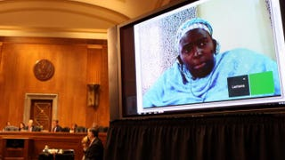 Lantana Abdullahi testifies before the U.S. Senate Committee on Foreign Relations Subcommittee on African Affairs May 15, 2014, in Washington, D.C.Nsenga K. Burton, Ph.D.