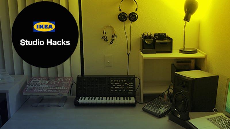 Build This Dream Music Studio With IKEA Hacked Furniture - Cheap recording studio furniture