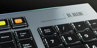 Illustration for article titled Art.Lebedev Releases Pics of Newly-Named Optimus Maximus Vaporware Keyboard