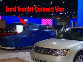 Illustration for article titled Ford Transit Connect Gets Early Partial Reveal From Chicago Auto Show Blog?