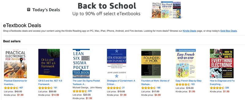 Amazon eTextbook Sale