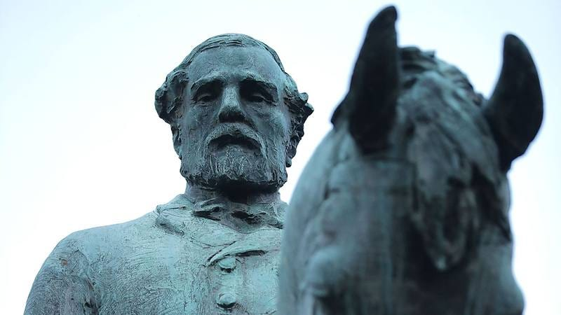 Statue of Robert E. Lee in Charlottesville.