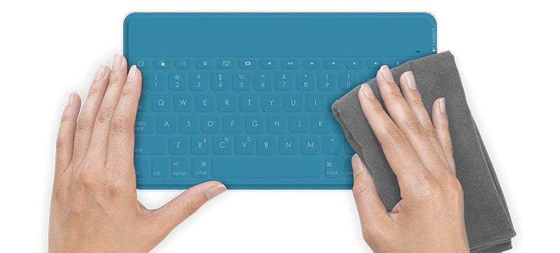 Illustration for article titled Logitech's New iPad Keyboard Hides Mechanical Keys in a Spillproof Skin
