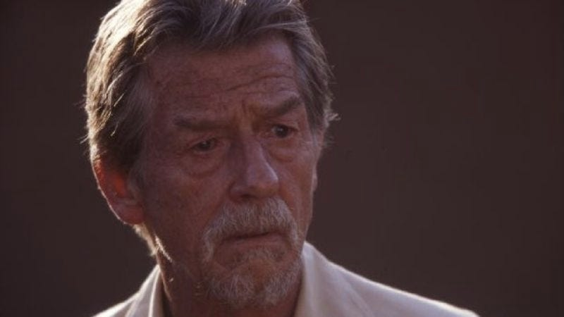Illustration for article titled John Hurt says he'll star in Terry Gilliam's Don Quixote movie, if it ever happens