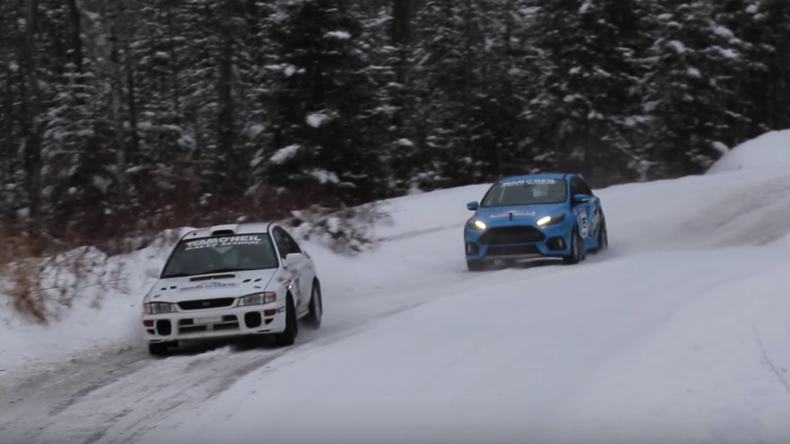 A Stock Ford Focus RS Can Hold Its Own Against An Old Subaru Rally ...