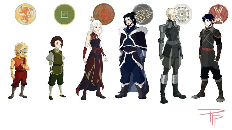 Illustration for article titled Awesome Fanart Marries Game of Thrones and Avatar
