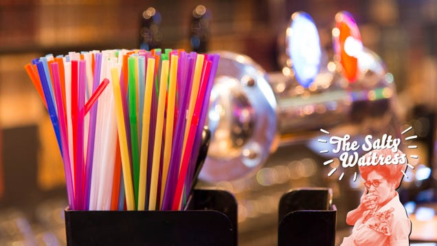 Ask The Salty Waitress: Can I help myself to a straw or napkin from behind the bar?
