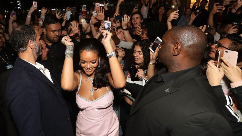 Rihanna attends the Fenty Beauty by Rihanna Anniversary Event at Sephora Pitt Street store on October 3, 2018, in Sydney, Australia.
