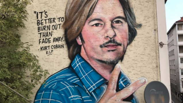 Beautiful, inspirational mural confuses David Spade for Kurt Cobain