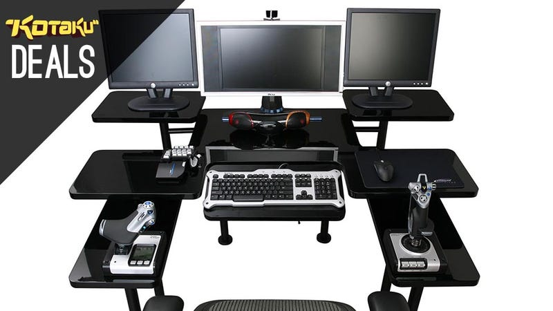 desks gamers fascinating desk computer two for users gaming