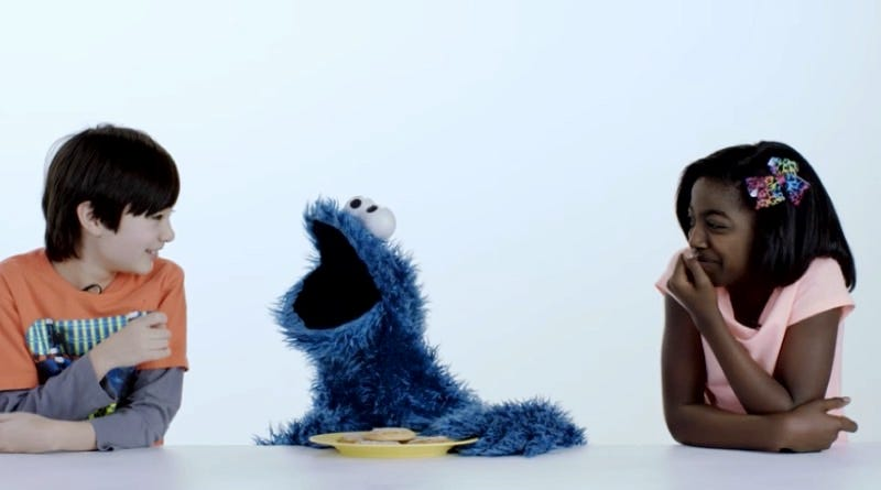 Illustration for article titled Cookie Monster Is the Ultimate Snack Buddy in this Video Celebrating 100 Years of Cookies