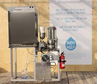La máquina que convierte el sudor en agua potable
