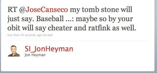 Illustration for article titled Jon Heyman Is Confused About Why He Hates Jose Canseco
