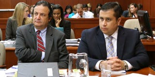 George Zimmerman, right, with jury consultant Robert Hirschhorn (Getty Images)