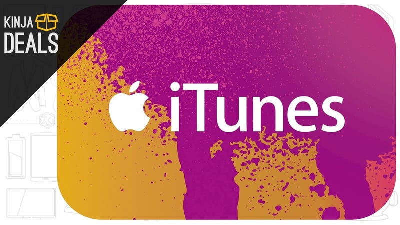Illustration for article titled Save on Movies, Music, Apps, and More With This Discounted iTunes Card