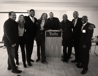 Participants at Tufts University's Barack Obama and American Democracy conference: Michael Eric Dyson, Diane McWhorter, Matthew Whitaker, Vince Brown, Jeremy Levitt, Patrick Sylvaine, Peniel E. Joseph and Yohuru WilliamsTwitter