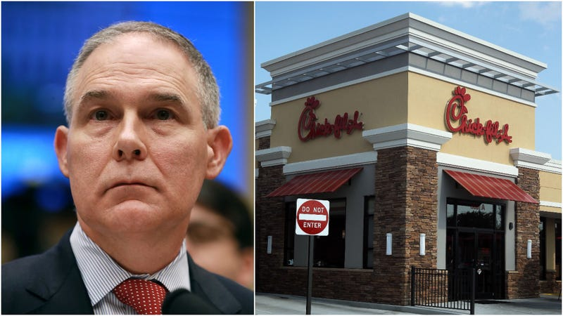 Illustration for article titled EPA chief Scott Pruitt asked an aide to help his wife franchise a Chick-Fil-A
