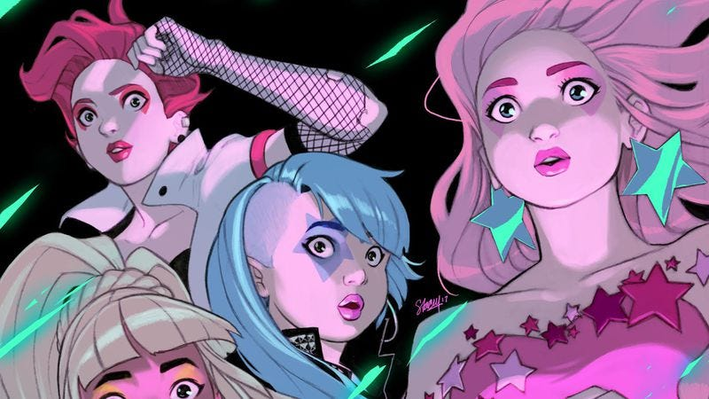 Illustration for article titled IDW's Jem And The Holograms comics cross over in this Infinite exclusive