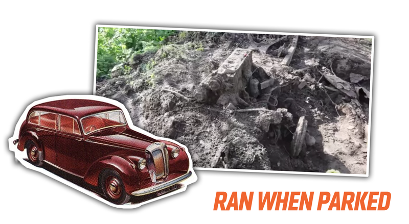 Illustration for article titled Family Finds Remains Of Old Daimler Car Buried In Their Yard