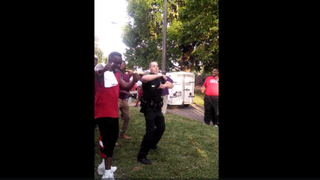Officer David Lee of the Hickory, N.C., Police Departmentdances the Wobble in a video posted online June 18, 2015.Screenshot