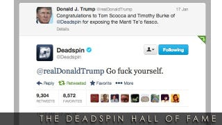 """Illustration for article titled 2013 Deadspin Hall Of Fame Nominee: """"Go Fuck Yourself"""""""