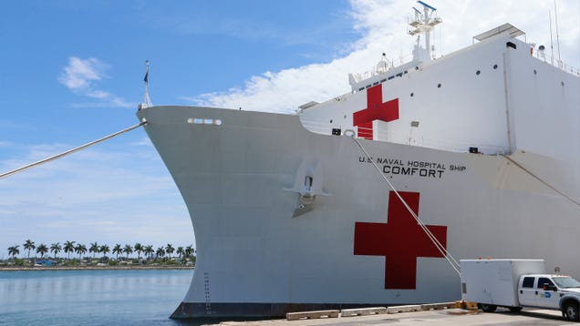 Navy Hospital Ships Promised by White House May Take Days to Weeks to Launch