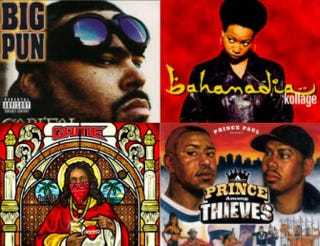 Top row: Big Pun; Bahamadia. Bottom row: The Game, Prince Paul.