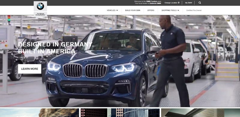 """Illustration for article titled Looks like all of Trump's """"GERMANY IS VERY BAD ON CARS"""" talk has rattled some folks at BMW"""