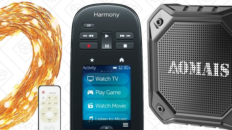 Illustration for article titled Saturday's Best Deals: Anker String Lights, Floating Bluetooth Speakers, Harmony