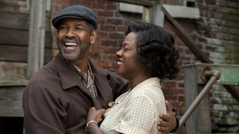 Denzel Washington and Viola Davis both received nominations for Fences, which was nominated for best picture. (David Lee/Paramount Pictures)