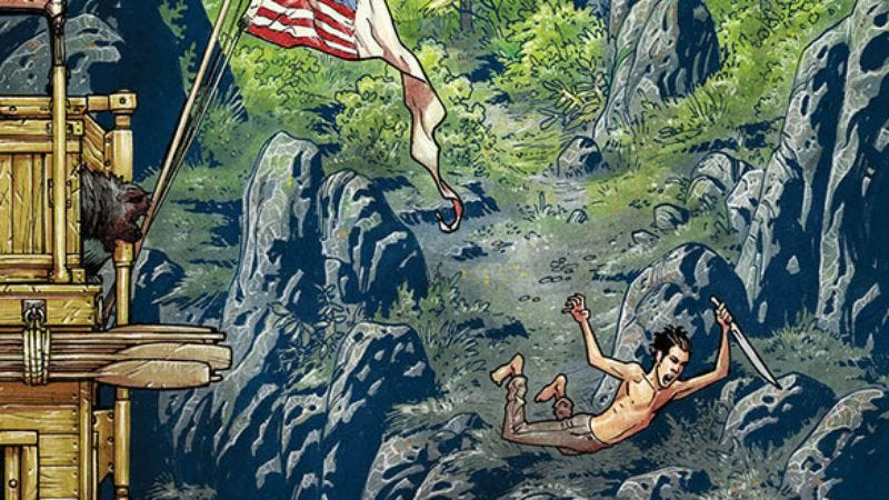 Illustration for article titled Lewis & Clark discover American horrors in the brilliant Manifest Destiny