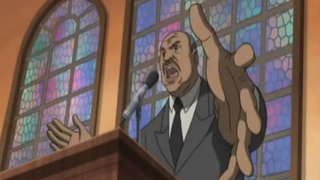Martin Luther King Jr. as depicted in an episode of The BoondocksYouTube screenshot