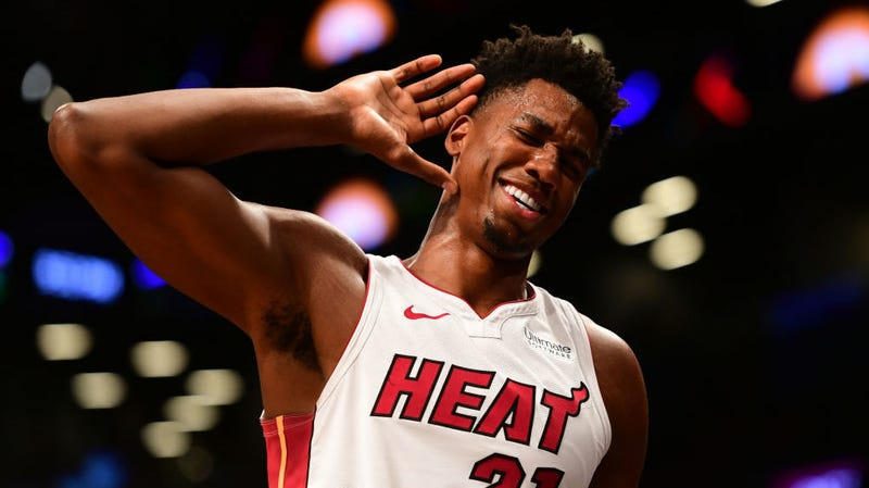 Illustration for article titled Hassan Whiteside Claims He Wasn't Mad, Just Had To Use The Bathroom When He Left The Bench Early