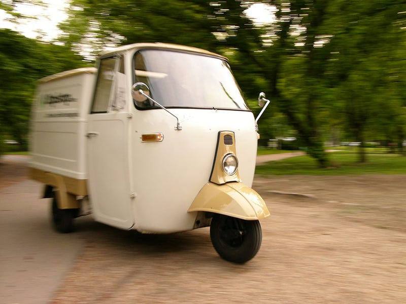 the piaggio ape buzzing about in europe s cutest truck. Black Bedroom Furniture Sets. Home Design Ideas