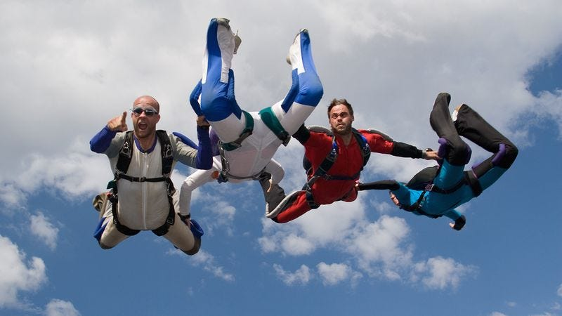 Illustration for article titled Man Unwilling To Skydive Blasted For Contradicting Previous 'Up For Whatever' Stance