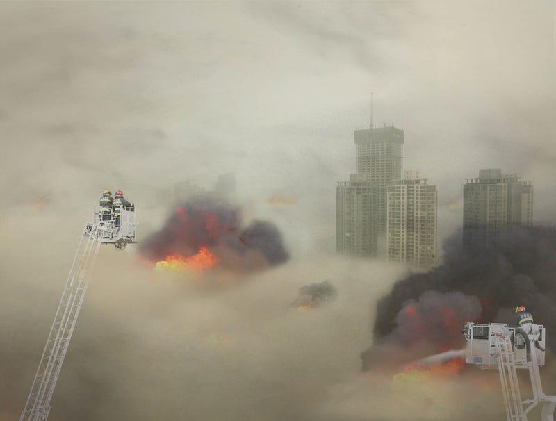Illustration for article titled Beijing Fire Department Extinguishes Massive Five-Alarm Burning Cloud Of Smog