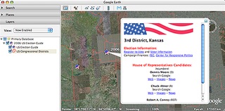 Illustration for article titled Google Earth adds U.S. election guide