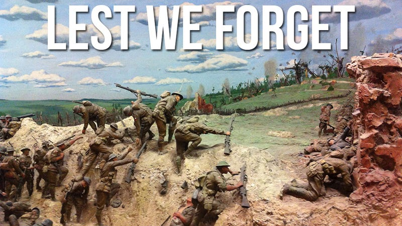 Illustration for article titled Classic Dioramas Depict the Horrors of War