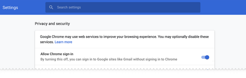 How to Disable Chrome's Automatic Sign-Ins in Version 70