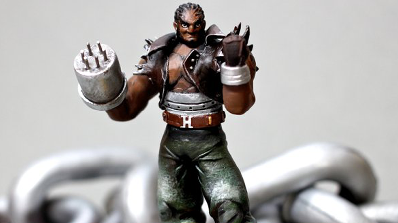 Illustration for article titled Fan Transforms Ganon Amiibo Into Final Fantasy VII's Barret