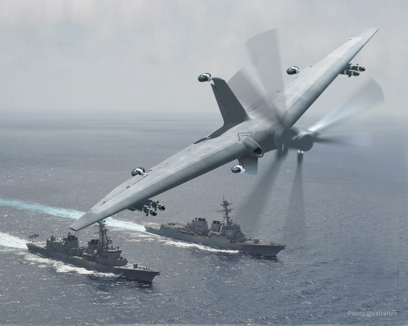 Illustration for article titled DARPA's Building a New Drone That Turns Small Ships Into Aircraft Carriers