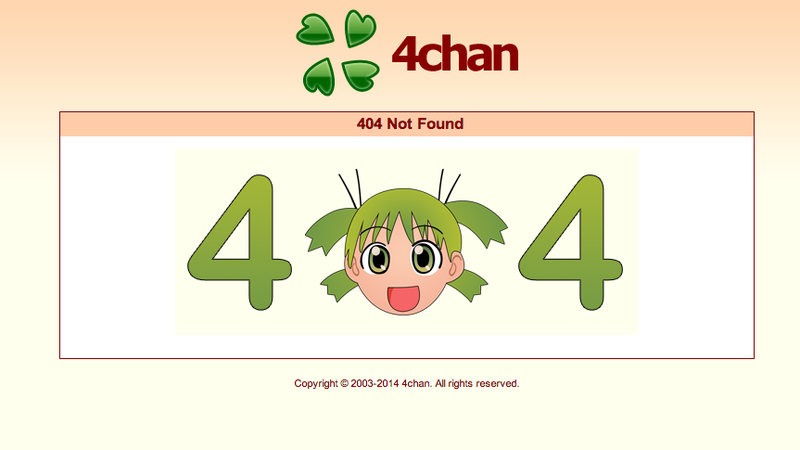 Image: One of 4Chan's 404 pages